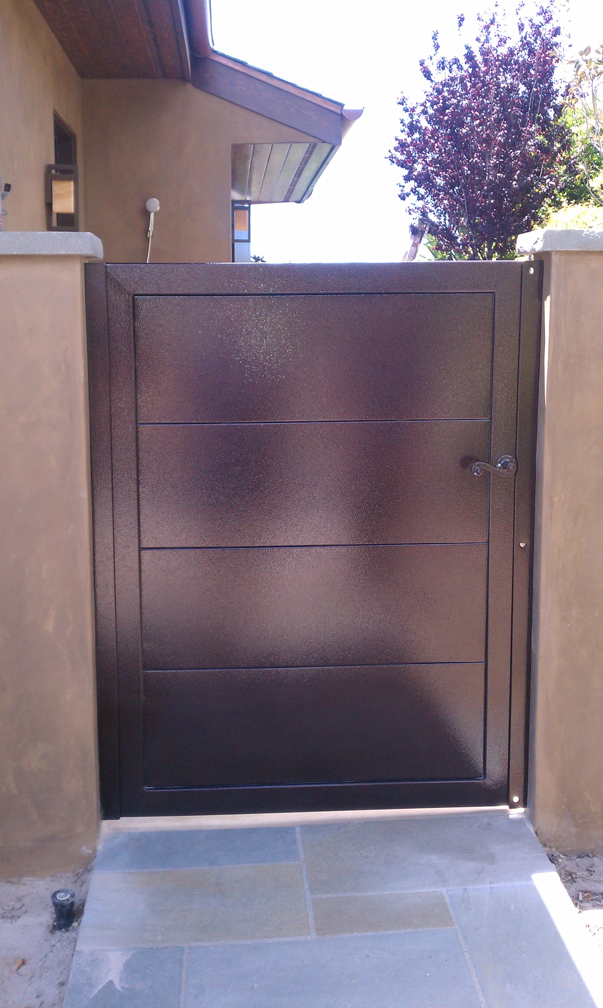 Brown Metal Entry Gate